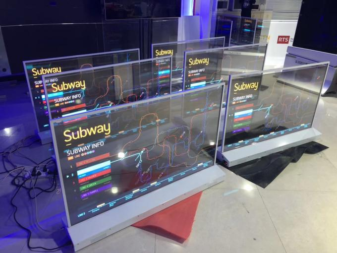 Multi Touch Transparent OLED Display With Simple Structures Modern Design