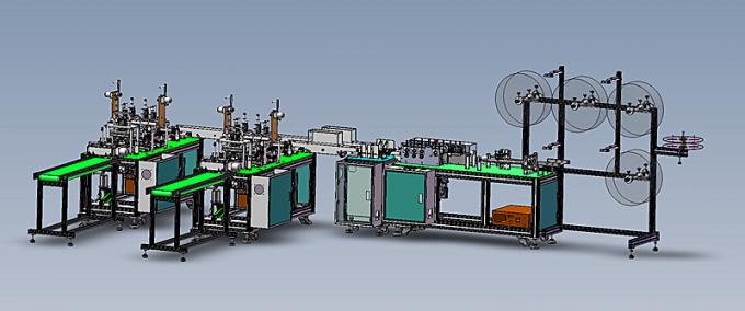 3 Ply Non Woven Face Mask Making Machine High Speed Energy Saving