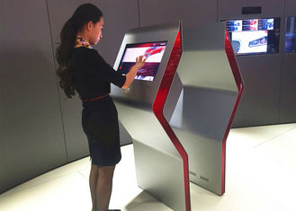 "China Vertical Display Interactive Touch Screen Kiosk 32""43""55""50""65""Size For Hospital / Schools supplier"