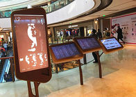 Floor Stand Interactive Wayfinding Kiosk Custom Accepted For Shopping Mall
