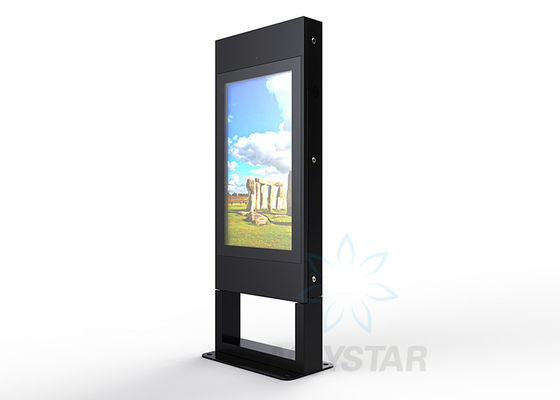 China Multi Language Outdoor Touch Screen Kiosk Size Custom Free Standing Digital Signage factory