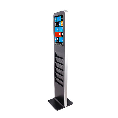 China Commercial Touch Screen Monitor , Indoor HDMI Touchscreen Monitor With Booklet Shelf factory