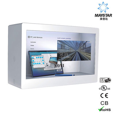 Good Quality Interactive Touch Screen Kiosk & High Resolution Transparent LCD Display Box , Transparent Display Showcase on sale