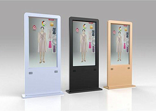 China Floor Stand Transparent OLED Screen , Thin And Light Advertising Kiosks Displays distributor
