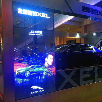 China High Resolution HD LED Display Transparent Ultra Slim For Commercial Buildings factory