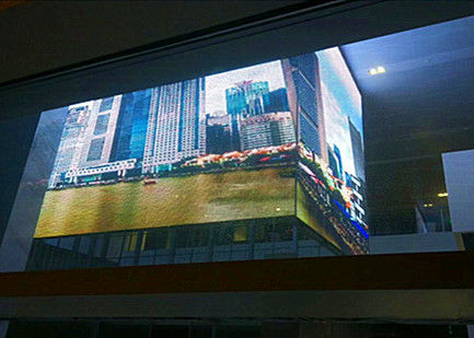 China High Definition Transparent LED Display Hanging / Stacking Installation For Stations factory