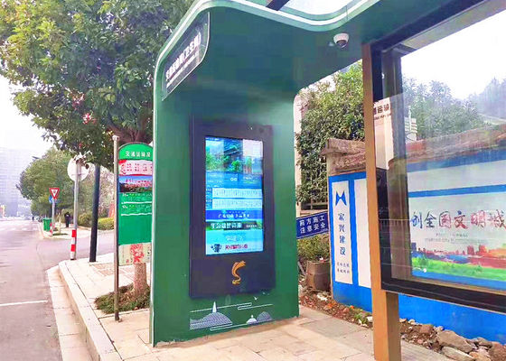 China Large Outdoor Digital Signage Displays 1920*1080 Resolution For Bus Stop Advertising distributor