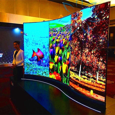 China Various Size Digital Advertising Screens Floor Stand Type With OLED Android System factory