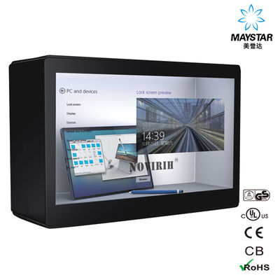 China Auto Sensor Transparent LCD Showcase , See Through LCD Panel Anti Radiation factory